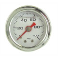 "Big End Performance Products 1/2"" Mechanical 0-100 PSI Fuel Pressure Gauge White BEP15033"