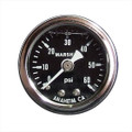 "Big End Performance 1 1/2"" 0-60 PSI Pressure Gauges - Black 15022"
