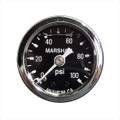 "Big End Performance 1 1/2"" 0-100 PSI Pressure Gauges - Black 15023"