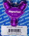 Fitting, Y, -10 AN Male All, Aluminum, Purple Anodized, Each MP-6200