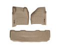 WeatherTech DigitalFit TAN FloorLiners 99-07 Ford Super Duty SuperCrew 450021 - 450022 with FREE SHIPPING (FRONT & REAR)