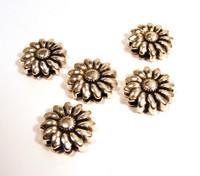 Sunflower flat leather slider AS