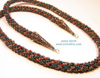 Hollow Braid - fully beaded strands