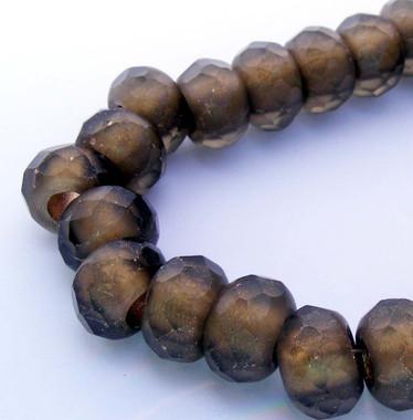 Smoky Topaz Roller Beads