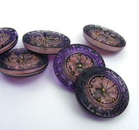 22mm Embellished Flower Button
