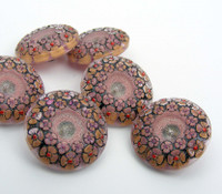 22mm Garland Pink Button