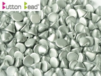 Button Beads - Alabaster Metallic Silver