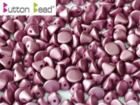 Button Beads - Alabaster Magenta