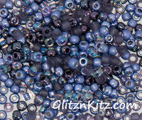 Tanzanite Tremors - Sz 8 Seed Bead Mix