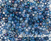 Chambray Denim - Sz 8 Seed Bead Mix