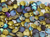 6mm Lentil - Crystal Etched Golden Rainbow