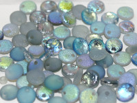 6mm Lentil - Crystal Etched Blue Rainbow