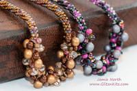 Sample - Steel-Pink 7 Strand Necklace