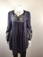 MONORENO Gray Peasant Tunic Top Cover Up Dress Size Medium