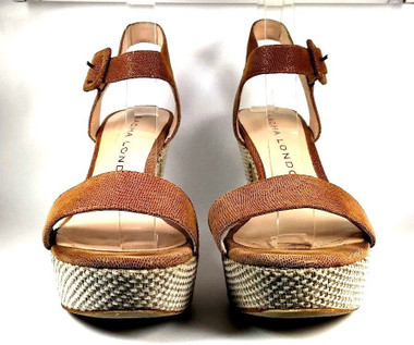 a8d4032d0a2d SACHA LONDON Brown Leather Platform Sandal SIZE 9.5 - Recycled Threads  Consignment