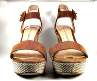SACHA LONDON Brown Leather Platform Sandal SIZE 9.5