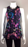 NANETTE LEPORE Multi Color Print Silk Tank Top Blouse Size 4