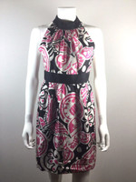 MILLY NEW YORK Pink Black Print Sleeveless Dress Size 2