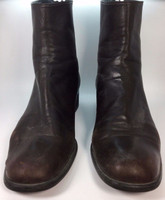 STUART WEITZMAN Brown Leather Ankle Boot Size 8AA Narrow