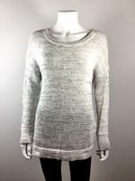 DEREK LAM 10 CROSBY Gray Crossover Open Back Long Sleeve Sweater Size P