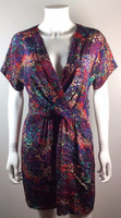 BARNEYS CO-OP Floral Print Silk Dress Size Medium