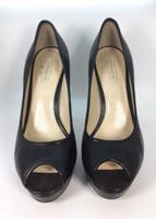 COACH Black Leather Breana Platform Heeled Pump Size 6.5