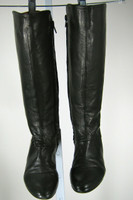 COCLICO Black Leather Knee High Boot Size 36.5