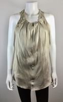 BRUNELLO CUCINELLI Beige Sleeveless Blouse Size Small