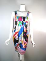 DVF DIANE VON FURSTENBERG Multi Color Silk ELIOT Tank Dress Size 4