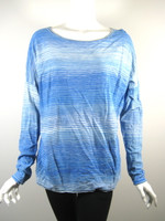 VINCE Blue Striped Long Sleeve Cotton Sweater Size Medium