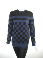 EDUN Black Blue Checkered Long Sleeve Sweater Size X Small