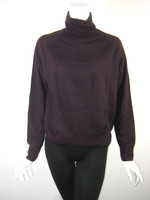 DRIES VAN NOTEN Burgundy Long Sleeve Wool Turtleneck Sweater Size Medium