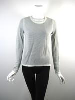 RAG & BONE White Black Print Sweatshirt Pull Over Top Size Medium