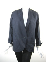 ISABEL MARANT ETOILE Navy Blue Linen Blazer Jacket Size 40