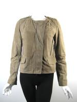 COMPTOIR DES COTONNIERS Brown Suede Leather Jacket Size 6/8