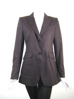 THEORY Brown Wool Button Front Jacket Blazer Size 6