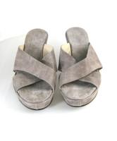 AGL ATTILIO GIUSTI LEOMBRUNI Gray Metallic Sandal Heel Pump Size 6.5