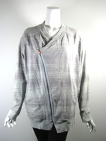 LULULEMON Gray Zip Front Athletic Yoga Workout Jacket Size 6 M