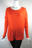 KAIN Orange Long Sleeve Sweater Size Small