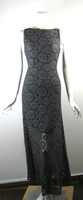 ALICE + OLIVIA Gray Lace Open Back Full Length Maxi Cocktail Dress Size X Small