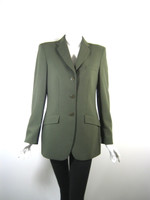 GIORGIO ARMANI Green Wool Blazer Suit Jacket Size 38