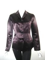 JIL SANDER Plum Purple Button Up Shirt Jacket Size 36