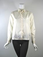 MICHAEL KORS Ivory Silk Button Down Blouse Size 2