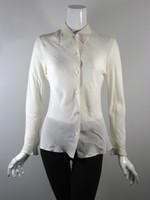 MICHAEL KORS Ivory Silk Button Down Blouse Size 42 / 8