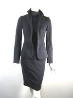 STRENESSE BLUE Gray Sleeveless Turtleneck Dress & Jacket Set Size 2