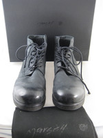 MARSELL Zucca Zeppa Black Nero Leather Montone Moto Boot Size 39.5 IN BOX