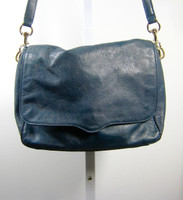 REBECCA MINKOFF Blue Leather Crossbody Shoulder Handbag