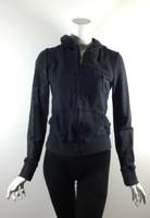 DA-NANG Black Embroidered Hooded Sweatshirt Size Small