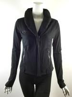LOVE YAYA Black Long Sleeve Zipper Athletic Jacket Size 2 Small