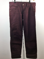 CITIZENS OF HUMANITY Burgundy Wine Red Crop Relaxed Boyfriend Jean Size 29